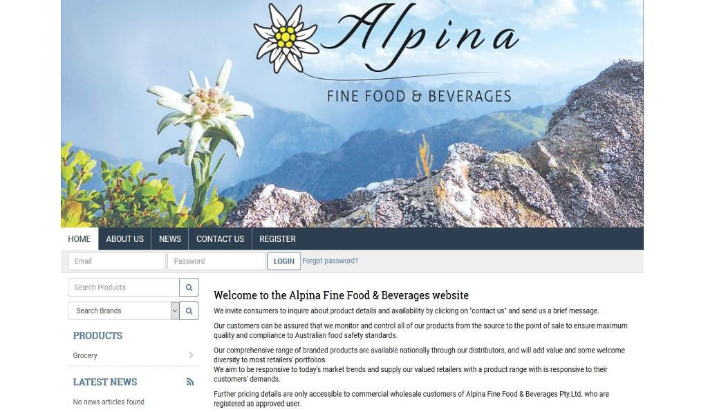 Alpina Fine Food & Beverages were hungry for the launch of their new eCommerce website