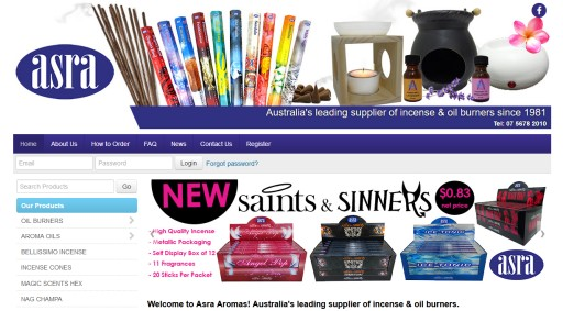 Asra Aromas launches new MYOB AccountRight integrated B2B online store