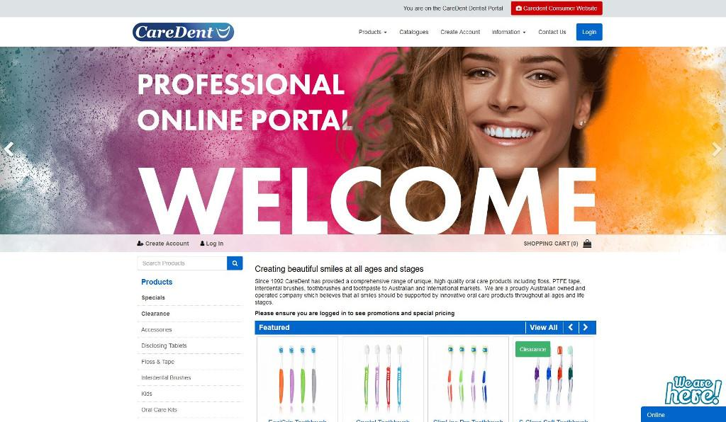CareDent have a grin from ear to ear with the launch of their new SAP Business One integrated eCommerce webstore for dental professionals