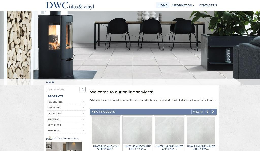 DWC Tiles launches their upgraded Attache integrated eCommerce website on the slated date