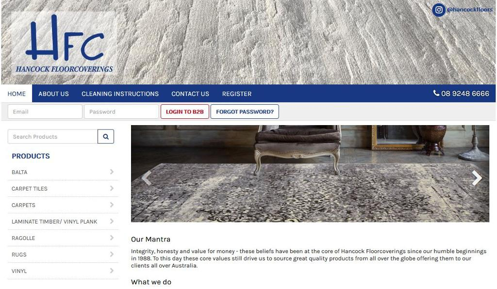 Hancock Floorcoverings have it all covered with the launch of their new Attache integrated eCommerce website