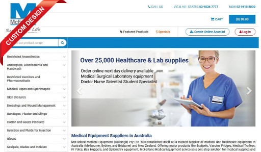 McFarlane Medical Equipment get just what the doctor ordered with the launch of their upgraded Sage 300 integrated eCommerce webstore