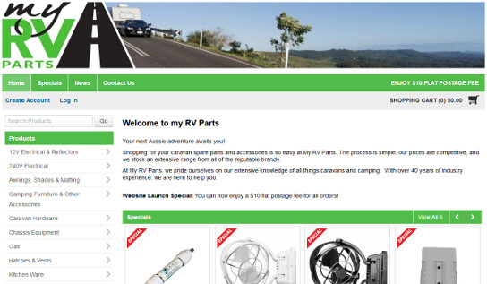 My RV Parts sets up camp online by launching their new JIWA Financials Integrated Straightsell eCommerce website!