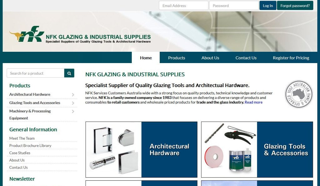 NFK Glazing and Industrial Supplies reflect on a job well done with the launch of their new MYOB Exo integrated eCommerce webstore