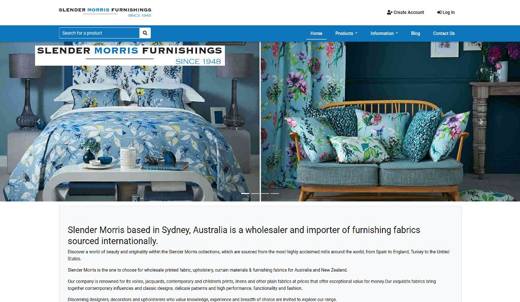Slender Morris Furnishings have everything covered with the launch of their new MYOB AccountRight integrated eCommerce webstore