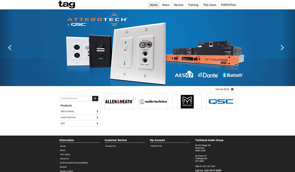 Technical Audio Group amplify their online presence with the launch of a new SAP Business One integrated eCommerce portal for dealers